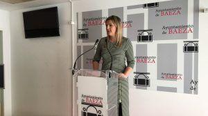 Alcaldesa hablando del Balance Asamblea GCPHE
