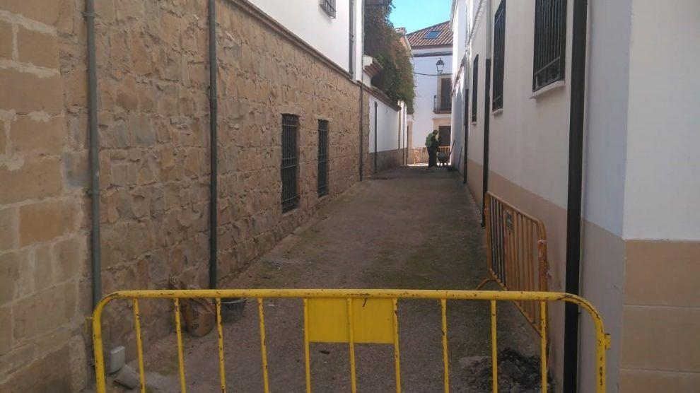 Trabajos de obras de mantenimiento en la ciudad