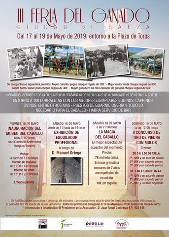 Cartel de la Feria del Ganado 03-05-2019