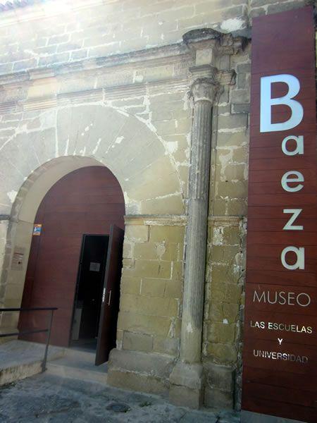 Entrada al museo de Baeza