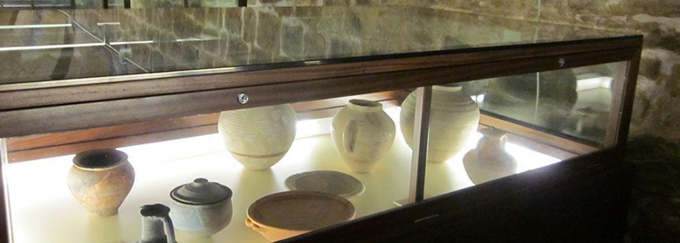 Vitrina del museo de Baeza